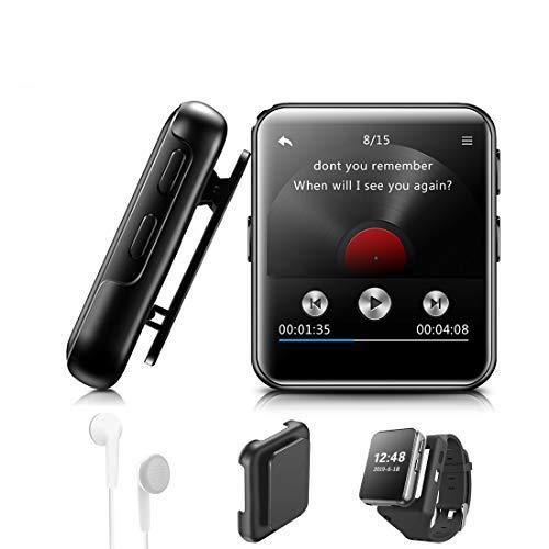"""MP3 Player BENJIE 8GB MP3 Player Bloothooth 1,5\"""" MP3 Player Sport Voller Touchscreen HiFi Verlustfreier Ton, FM Radio, Diktiergerät mit Kopfhörern, E-Book, Video Player für Sport und Musik Liebhaber"""