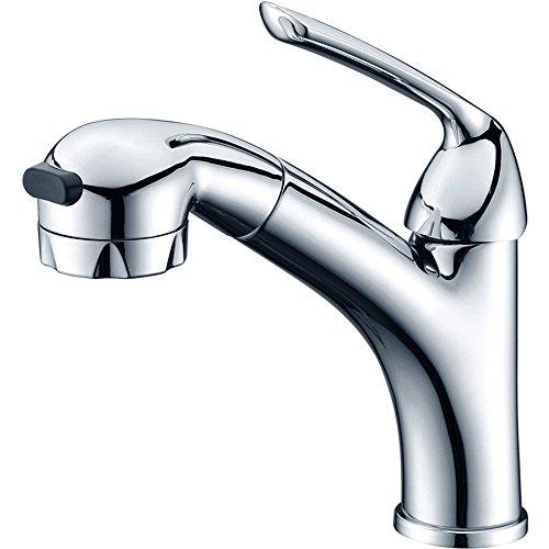 Grifo de cocina para lavabo o baño con ajuste en caliente y frío, grifo alto de cascada duradero, grifo monomando para lavabo con boquilla de agua caliente y fría