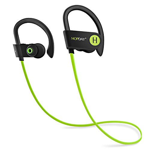 Bluetooth Headphones, Wireless Headphones, HOPDAY in-Ear Bluetooth Earbuds, Built-in Mic, Stereo Sound (Green)