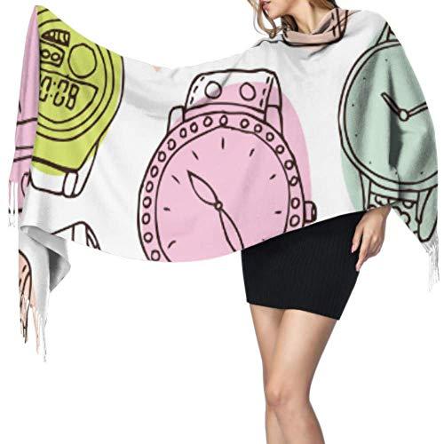 Yushg Inicio Ideas de moda Accesorios Reloj Wrap Bufanda Chal Bufanda Lifhtweight Bufanda grande de cachemira 77x27inch / 196x68cm Large Soft Pashmina Extra Warm