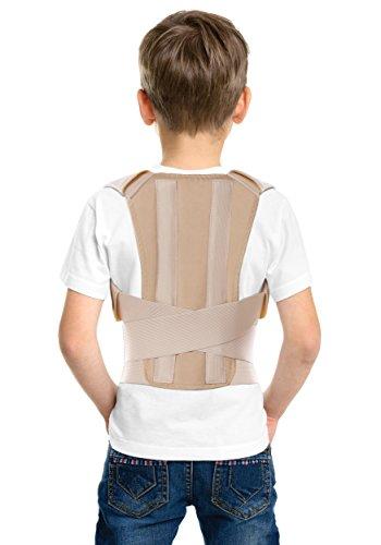 Corrector postural; soporte para espalda; para niños y adolescentes, jóvenes y adultos Medium Beige