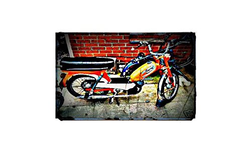 1973 Batavus fiets motorfiets A4 foto afdrukken Retro leeftijd vintage