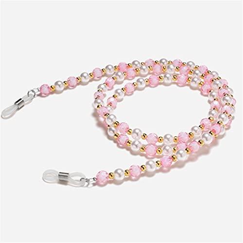 YLQGS Seven-Color Beads Glasses Chain Lanyard Glasses Strap Sunglasses Cords Casual Glasses Accessories (Color : D, Size : Length-70CM)