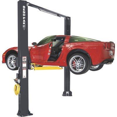 BendPak Dual-Width 2-Post Asymmetric Car Lift - 10,000-Lb. Capacity, Gray, Model Number...