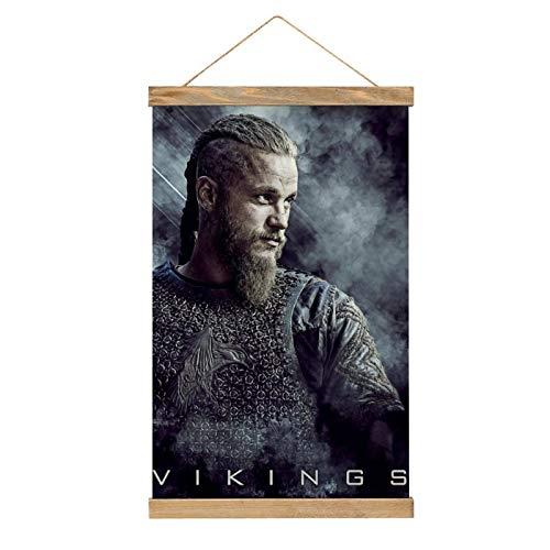 HirrWill hohe Qualität Wandbilder Deko Poster, Vikings Ragnar Lothbrok 2, Poster Wandbild mit Rahmenzubehör, fertig zum Aufhängen für die Heimdekoration -30cm '' × 50cm ''