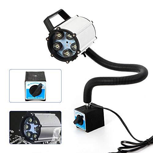 Drehmaschine Lampe LFJD CNC-Maschinenleuchte LED Arbeitsleuchte Schwanenhals Magnetische Basis Lampe 5W 220V