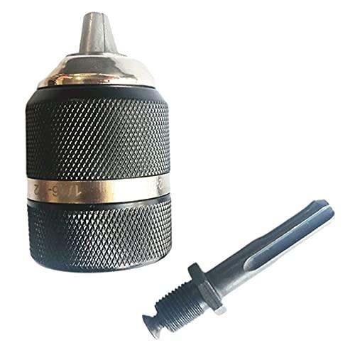 harayaa Portabrocas sin llave de 1/2 pulgada, 3 mordazas, broca de 1,5-13 mm, montaje de 1/2'-20' para martillo perforador