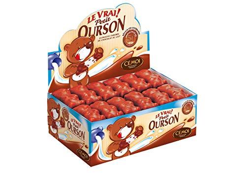 Cémoi Présentoir l'Authentique Petit Ourson Guimauve Chocolat au Lait 48 Pièces 720 g