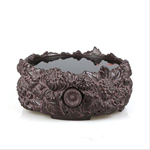 Tetera eléctrica especial de cerámica de la estufa vieja de la roca de barro cocido material escultura de agua de té del crisantemo Silencio Té Accesorios Bandeja