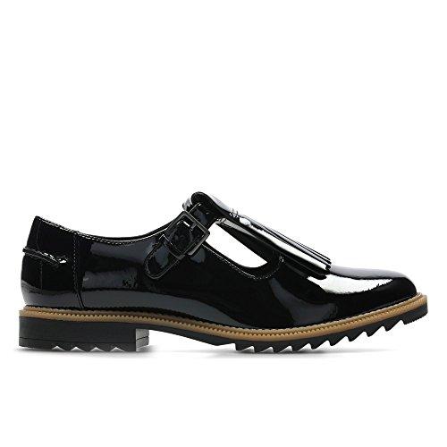 CLARKS Clarks Womens Shoe Griffin Mia Black Patent 3.5 E