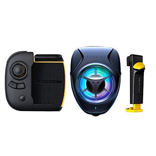 Controlador de juegos móvil PUBG, Flydigi Wasp 2 Gamepad Configurar Android iOS Teléfono móvil Tableta Universal Bluetooth Auxiliar Automático Presión Agarre Periféricos(wasp 2+beewing+yellow trigger)