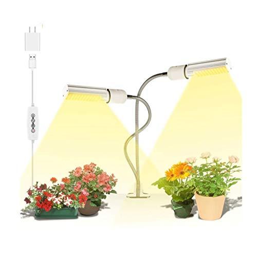 YAOJIA Pflanzenlampe Doppelkopf LED Pflanzenlicht   Vollspektrum-Wachstumslicht Mit 360°Einstellbar Schwanenhals 10 Helligkeitsstufen   Benutzt Für Sämling Blüht pflanzenlicht