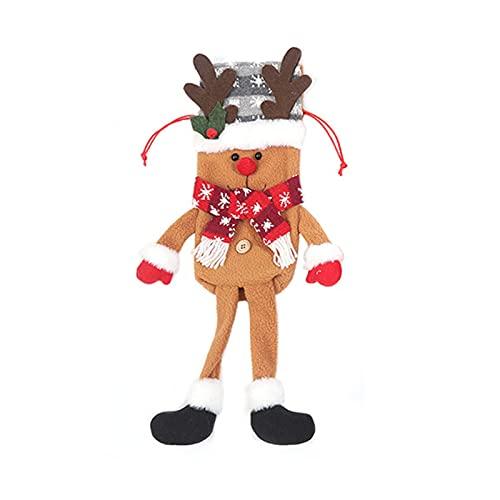 2021 Natale Kit Decorativi, Alce Modello Natale Bottiglia di Vino Copertura Coulisse Tessuto Lavorato A Maglia Confortevole Touch Borsa Bottiglia di Vino per la Casa