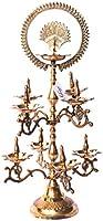 The Art Age Brass Natraj Puja Lamp (Gold_21 x 21 x 51 cm)