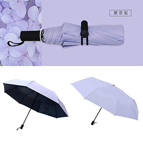Roshow Dreifache Schwarze Kleber Regenschirm super Leichter Sonnenschirm, Dual-Zweck-Sonnencreme-Werbung-Regenschirm, Regenschirm, benutzerdefiniertes Logo-Lavendel