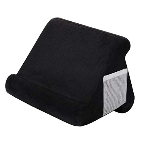 prasku Multi Angle Tablet Stand Pillow Holder Universal Phone And Tablet Holder Support - Black, 27x25x23cm