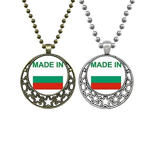 Hergestellt in Bulgarien Landhaus-Liebhaber-Halsketten-Anhänger Retro Mond Sterne Schmuck
