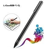 Gouler タッチペン スタイラスペン 極細銅製ペン先1.45mm 5分自動スリップ アルミ製 iPad・iPhone対応 (黒)