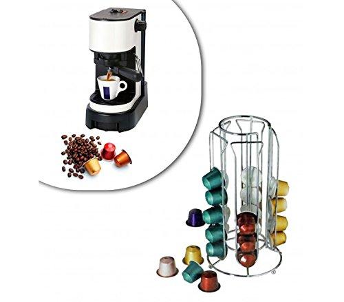 MEDIAWAVE Store Stand per capsule caffè 30 posti portacapsule in metallo 4 colonne design moderno 726104