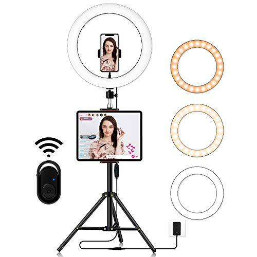 Big Selfie Ring Light with Stand: 14 Inch LED Ringlight | Circle Lamp with Phone Holder & Camera Tripod for Photography Lighting | Video Recording | Live Streaming of YouTube & Tiktok