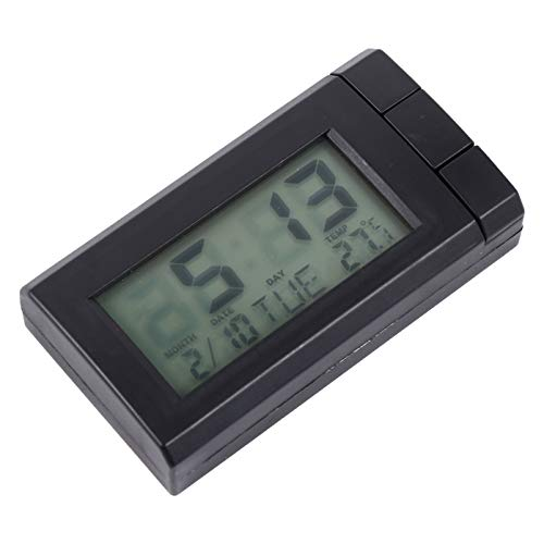 BESPORTBLE Car Clock Car Thermometer Auto Voltage Meter Dashboard LCD Digital Clock for Car Private Car Truck
