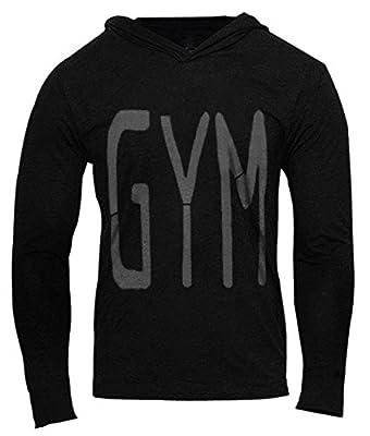 JoofEric Men's Bodybuilding Workout Muscle Gym Long Sleeve Hoodie Shirt