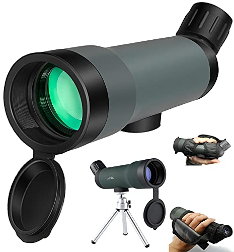 Monocular Telescope 20x50 Zoom HD Hunting Spotting Scope with Portable Tripod Gifts for Adults for Outdoor Bird Watching Hunting Hiking Camping Travelling