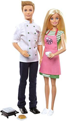 Barbie Ken Camerieri con tostapane Che Si Apre e chiude e Tanti Accessori a Tema, Multicolore, FHP64, Modelli/Colori Assortiti, 1 Pezzo