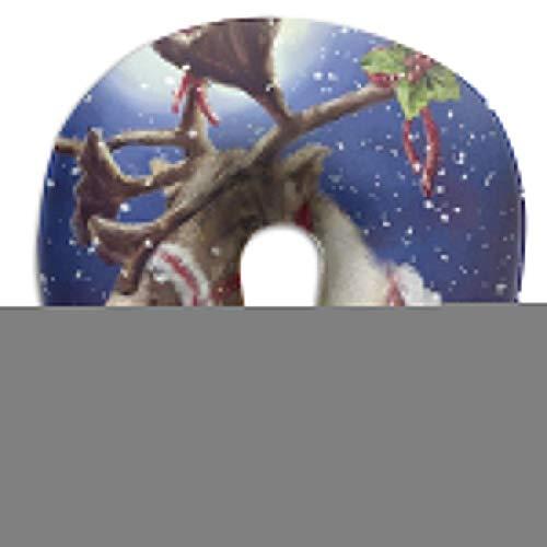 Almohada en Forma de U Cuello Feliz Navidad Muñeco de Nieve Viaje Almohada Multifuncional Coche Avión