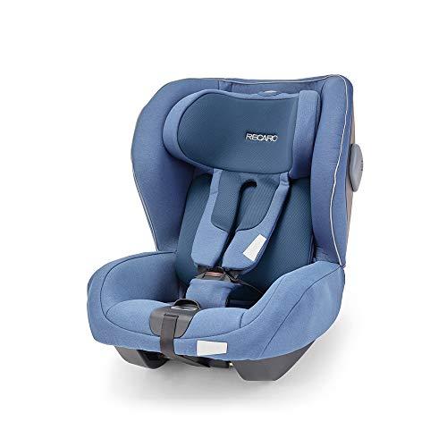 Recaro Kids, Seggiolino Reboarder Kio i-Size, Seggiolino Auto (60-105cm), Facile Installazione con Base Isofix Avan/Kio, Ottima Circolazione dell'Aria, Comfort e Sicurezza, Prime Sky Blue