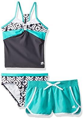 ZeroXposur Big Girls' Two Piece Tankini Swimsuit Set