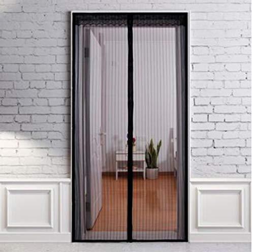 Insektenschutz-Vorhänge für Zuhause, Schlafzimmer, Flur, Balkon, 24,6 x 99,1 cm, Magnet-Klettverschluss