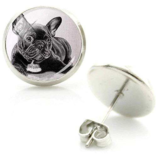 Dog Stud Earrings: French Bulldog Picture Studs for Girls Women (French Bulldog)