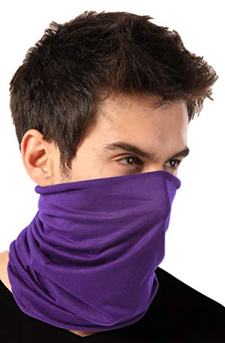 Neck Gaiter Face Mask - Reusable & Washable Face Cover & Shield - Breathable Face Covering Sleeve, Fishing Bandana, Cloth Scarf for UV Sun & Dust Protection - Motorcycle Masks For Running & Hiking