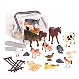 Terra by Battat – Country World – Realistic Cows Toys & Farm Animal Toys for Kids 3+ (60 Pc)