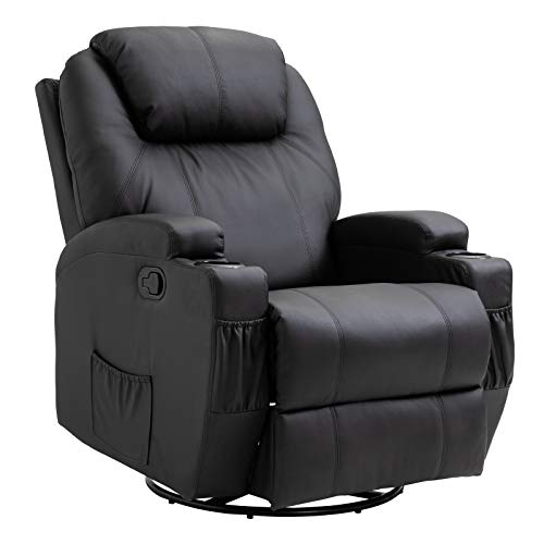 HOMCOM Massagesessel Relaxsessel mit Wärmefunktion Sessel Schwarz