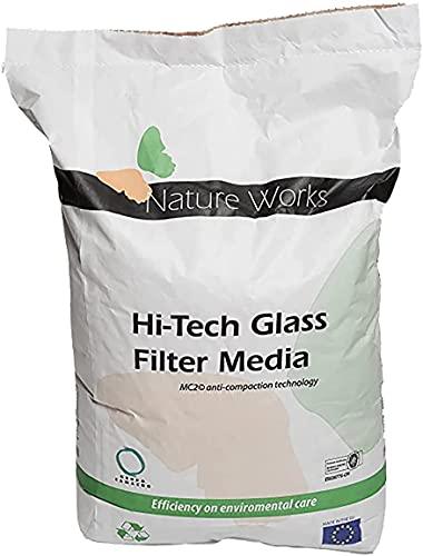 well2wellness® Hi- Tech Filterglas für Pool- Sandfilteranlagen Körnung 0,8mm, 20kg Sack