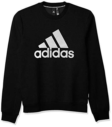 adidas mens Badge of Sport Fleece Sweatshirt Black Medium