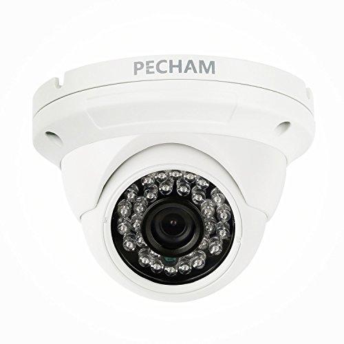 PECHAM cámara de seguridad exterior de Vigilancia CCTV, Analog cameras HD CMOS sensor 3.6mm Gran Angular Lente Color impermeable Cúpula cámaras de vigilancia