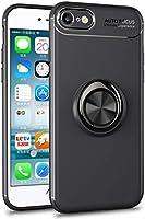 Microsonic Apple iPhone SE 2020 Kılıf Kickstand Ring Holder Siyah