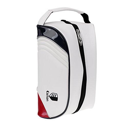 MagiDeal Schuhtasche Schuhbeutel Sportschuhe Organizer Tasche mit Handgriff Handtasche PU-Leder mit Reißverschluss, Reisen Outdoor Sport Tennis Golf (Shoes Bag)