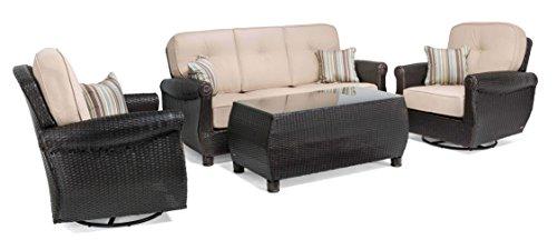 La-Z-Boy Outdoor ABRE-4PC-N Patio Seating Set, Natural Tan