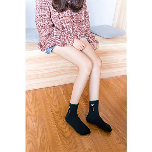 KANGDE Primavera Verano Mujer Calcetines Calcetines Algodón Transpirable In-Tube Calcetines Boca Suelta Calcetines Calcetines de Mujer