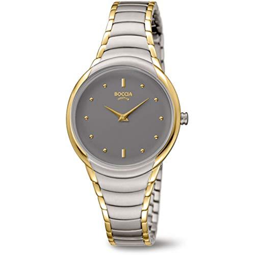 Boccia Womens Analogue Quartz Watch with Titanium Strap 3276-13