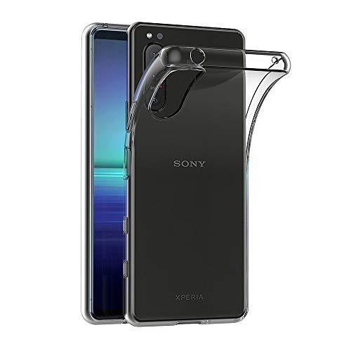 AICEK Hülle Compatible für Sony Xperia 5 II Transparent Silikon Schutzhülle für Xperia 5 II Hülle Clear Durchsichtige TPU Bumper Sony Xperia 5 II Handyhülle (6,1 Zoll)