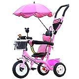 NUBAO Bicicleta de triciclo para bebé triciclo – triciclo ajustable para niños, niños pequeños, niños de 15 meses a años con toldo extraíble (color: B) triciclos para niños de 1 a 3 años (color: D)
