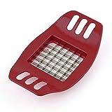 Irox Taglia Patate Fritte a Bastoncino Manuale Lame in Acciaio Inossidabile Stick di Patate Pratico Taglia Verdura e Frutta Utensili da Cucina Rosso Scuro
