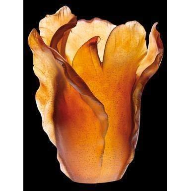 Daum 03574 Vase, Tulipe, bernsteinfarben