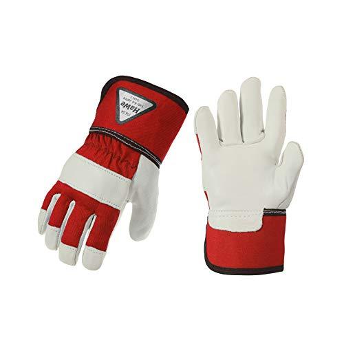 HaWe Premium Kinderhandschuhe, Handschuh aus Ziegenleder (Rot 4-6 Jahre)