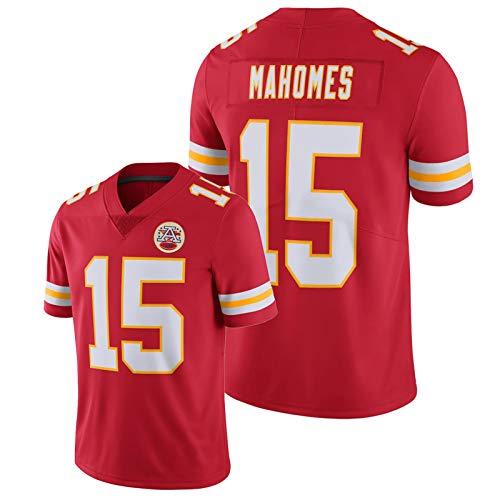 WDGZ Patrick Mahomes American Football Shirt #15 Chíefs Herren bestickt Kurzarm Vapor Untouchable Limited Jersey Rot M